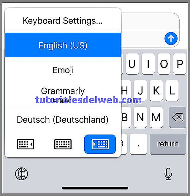 Cara menghapus keyboard internasional di iPad / iPhone / iPod Touch