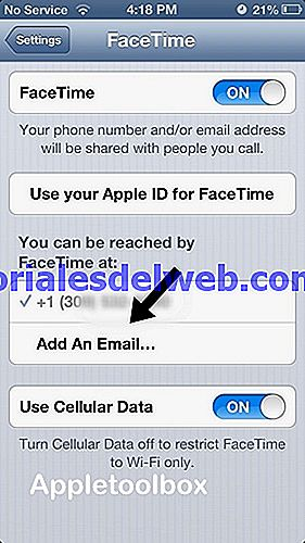 Cómo usar su número de iPhone con FaceTime e iMessage en dispositivos iOS (iPad, iPod) con iOS 6 y en Macs con OS X