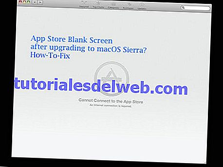 App Store en blanco con macOS Sierra, How-To Fix