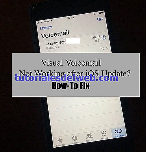 ¿iOS iPhone Visual Voicemail no funciona?  Como arreglar