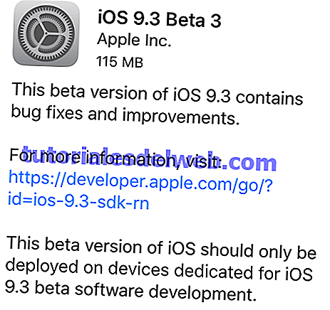 Apple lanza iOS 9.3 Beta 3 para desarrolladores (descarga)